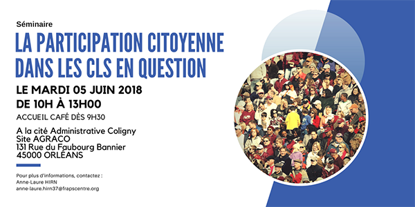 SAVE THE DATE - Séminaire Démarche participative dans les CLS en question